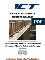 Assessment and Repair of Chloride Induced Corrosion of Steel in Reinforced Concrete
