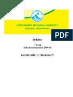 Uttaranchal Tech University B Pharm Syllabus