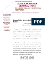 HUMAN RIGHTS VIS-À-VIS THE CRIMINAL JUSTICE SYSTEM