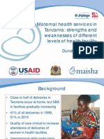 Maternal Health Services in Tanzania