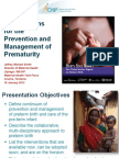 Interventions for the Prevention and Management of Prematurity