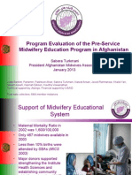 Program Evaluation of the Pre-Service Midwifery Education Program in Afghanistan