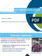 Mobile Phone Use for Integrated Health Services in Guinea