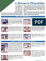 Truck Driver's Checklist