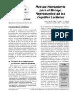 Nuevas Herramienta Para El Manejo Reproductivo de Las Vaquillas Lecheras