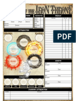Blade of the iron throne character sheet