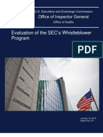 Evaluation of the SEC's Whistleblower Program