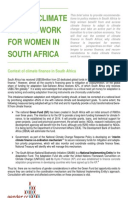 Making Climate Finance Work for Women in South Africa