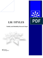 LSI Validity Study