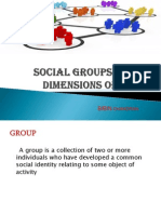 SOCIAL GROUPS AND KEY DIMENSIONS OF GROUPS by BIBIN CHANDRAN