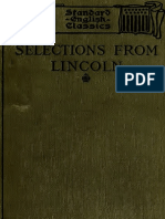 Abraham Lincoln - Selections from Letters and Speeches 1911