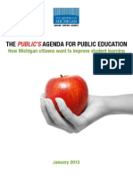 The Public's Agenda for Public Education