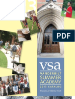 Vanderbilt Summer Academy Course Catalog 2013