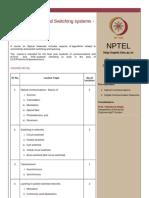 NPTEL Syllabus