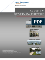 Monthly Governance Report April 2009