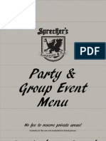 Sprecher's Party and Group Menu