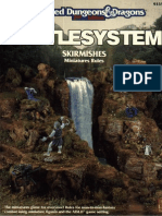 Battlesystem Skirmishes Miniatures Rules (Tsr 9335)