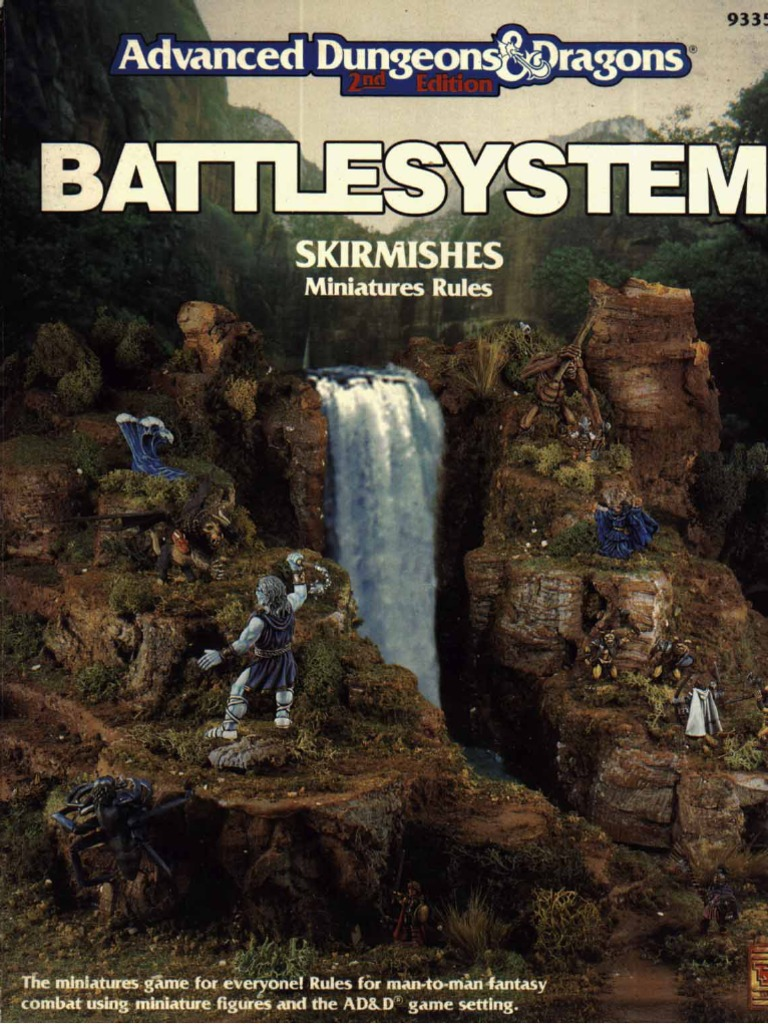 Battlesystem Skirmishes Miniatures Rules (Tsr 9335) | Dungeons