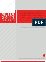 Metia 2013 Marketing Trends Report