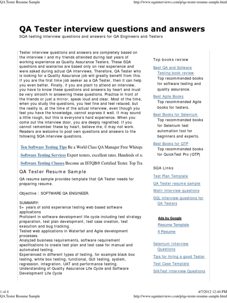 download automation tester resume sample as image file. selenium ...