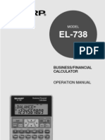 Sharp Financial Calculator Manual EL738