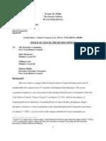 RO Veto Notice Regarding an Executive Committee Process and Lebo v Musumeci 1.22.13