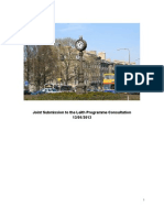 Joint Submission to the Leith Programme Consultation