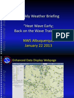 NWS ABQ Weekly Weather Briefing 01/22/13