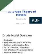 Drude Model Presentation