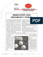 Levapan Boletin Tecnico 014 - Fermentacion Final (Crecimiento) y Horneo
