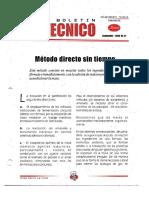 Levapan Boletin Tecnico 021 - Metodo Directo Sin Tiempo