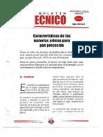 Levapan Boletin Tecnico 024 - Caracteristicas de Las Materias Primas Para Pan Precocido