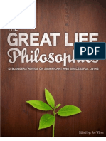 Great life philosophies
