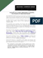 TUCSON CITY COURT ASSERTS  AUTHORITY OF PRIOR RESTRAINT