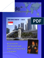 Singapore Bid Document for WSDC 2015