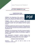 eo 292 - administrative code of 1987