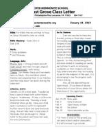 Newsletter Jan. 18