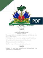 Cabinet Ministeriel 22 Janvier 2013