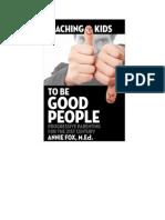 Teaching Kids to be Good People