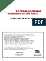 Escolas publicas municipais de São Paulo - Endereços.