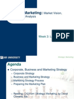 Strategic Marketing - Lecture 5 Market Vision, Structure and Analysis