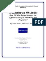 Audit of HR department