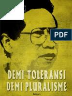 Demi Toleransi Demi Pluralisme