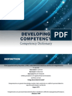 developing competency dictionary