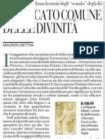 """La storia della """"traducibilità"""" degli dei tra le religioni politeistiche - La Repubblica 23.01.2013"""