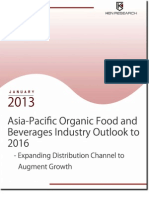 Asia Pacific Organic Food and Beverages Industry Outlook to 2016 - Expanding Distribution Channel to Augment Growth