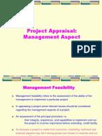 Project Appraisal_Management Aspect