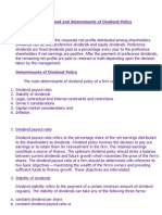 Dividend and determinants of Dividend Policy.docx