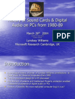PC SoundCard and Digital Audio History by Lyndsay Williams 1980 -1989