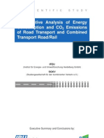 Comparative Analysis of Energy Consumption and CO2 Emissions of Road Transport and Combined Transport Road/Rail